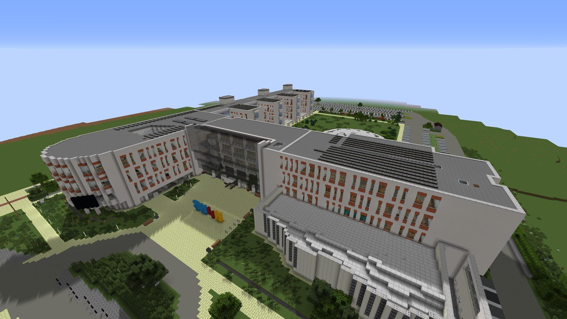 Kampus UJ odtworzony w Minecrafcie